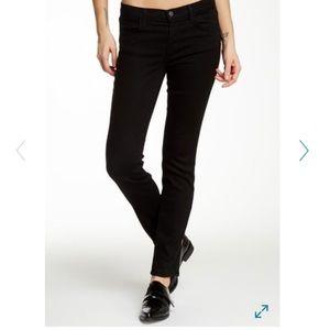 J Brand Black Mid-Rise Pencil Leg Jeans